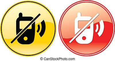 No Cellphones Phone Label Sign Symbol