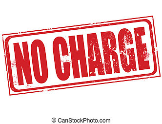 no charge stamp - no charge grunge stamp with on vector...