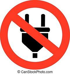 No charging sign