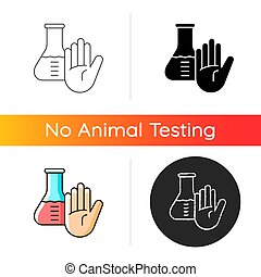 No chemical testing gradient icon