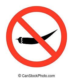 No Chilli pepper sign.