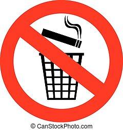 no, cigarrillo, tiro, empalma