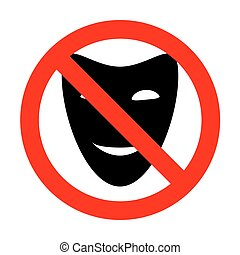 No Comedy theatrical masks.