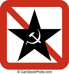 No communism sign