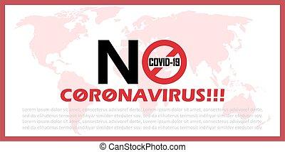 No coronavirus background with world map. Vector illustration