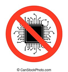 No CPU Microprocessor illustration.