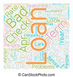 No credit check personal loans when credit weighs heavy on your shoulders text background wordcloud concept
