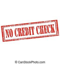 No Credit Check-stamp