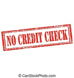 No Credit Check-stamp