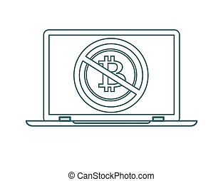 No cryptocurrency technology, Stock flat vector illustration.