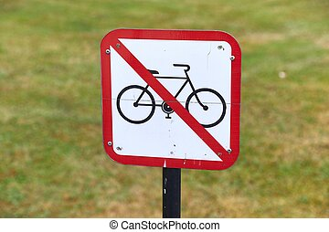 No cycling area