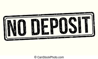 No deposit grunge rubber stamp on white background, vector...