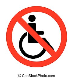 No Disabled sign illustration.