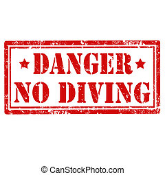 No Diving-stamp