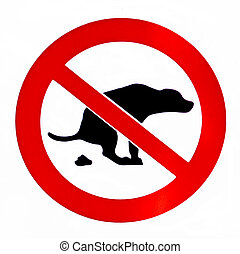 No dog poop isolated  forbiddance sign