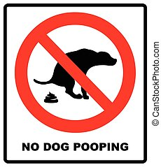 No dog poop vector sign illustration on white background -...
