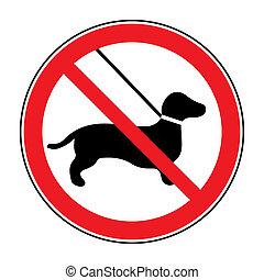 No dog Sign