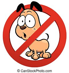 No dog - Vector illustration of No dog sign