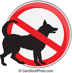 No dogs allowed.Vector