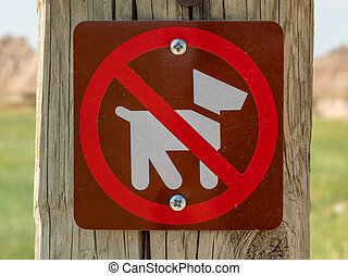 No Dogs Icon Sign