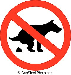 No dogs poop vector sign