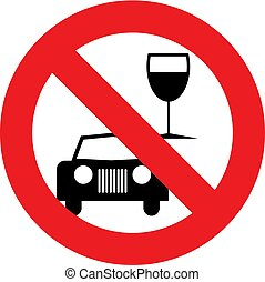 No Drink and drive symbol