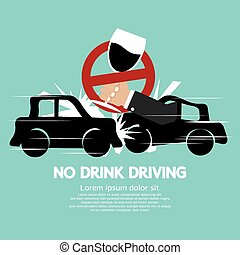 No Drink Driving. - No Drink Driving Vector Illustration.