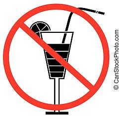 No drink sign