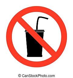 No Drink sign illustration.