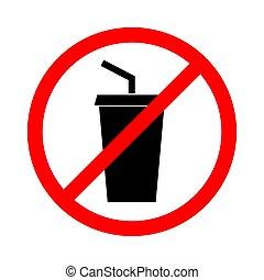 No drink sign. Vector illustration.