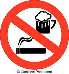 No drinking and smoking sign