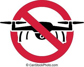 No Drone Zone Icon Ban