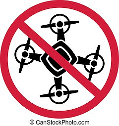 No Drone Zone Sign Icon