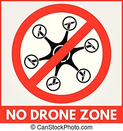 No drone zone sign. Vector illustration.