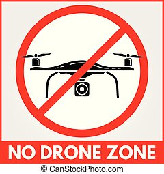 No drone zone sign. Vector illustration