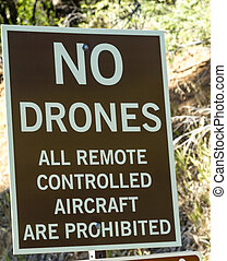 No Drones Allowed Sign - No drones and all remote controlled...