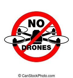No drones zone sign - protected area