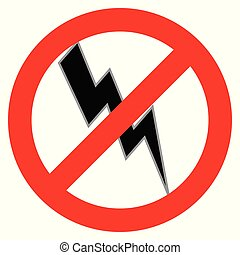No Electricity Symbol