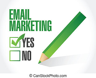 no email marketing illustration design over a white ...