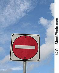no entrance sign