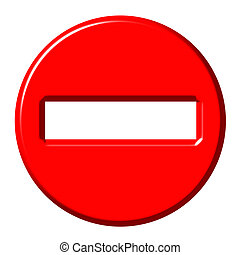 No entry 3d sign