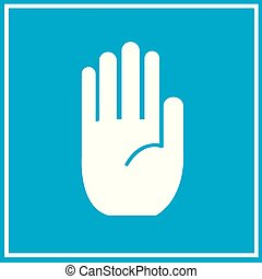 No entry hand sign