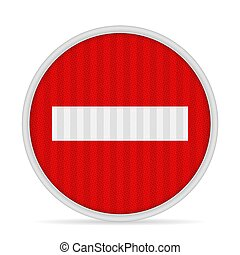 No entry road sign on a white background. Vector illustration.