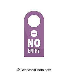 No entry room tag icon, flat style