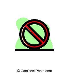 No Entry Sign Conceptual Vector Illustration Design Icon