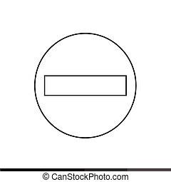 No Entry Sign Icon Illustration design
