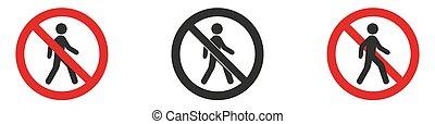 no entry sign, no entry, hapreschen people input, editable ...