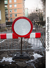 no entry sign on the street