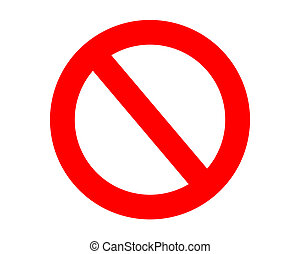 No entry sign - Red no entry sign, isolated on white...