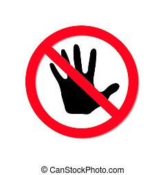 No entry sign, vector eps10 illustration - No entry sign ...